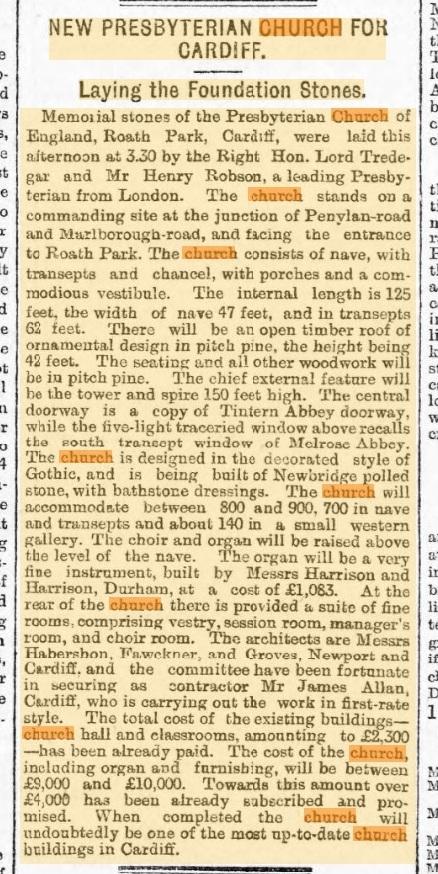 1899 - 12th April - South Wales Echo
