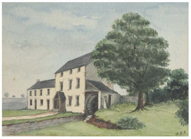 Roath Mill painting by Hodkinson