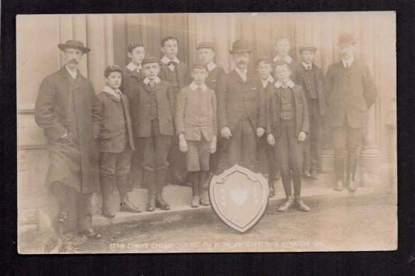 Roath Park Presbyteryan Church Star Chart Champions 1906 - eBay postcard sale