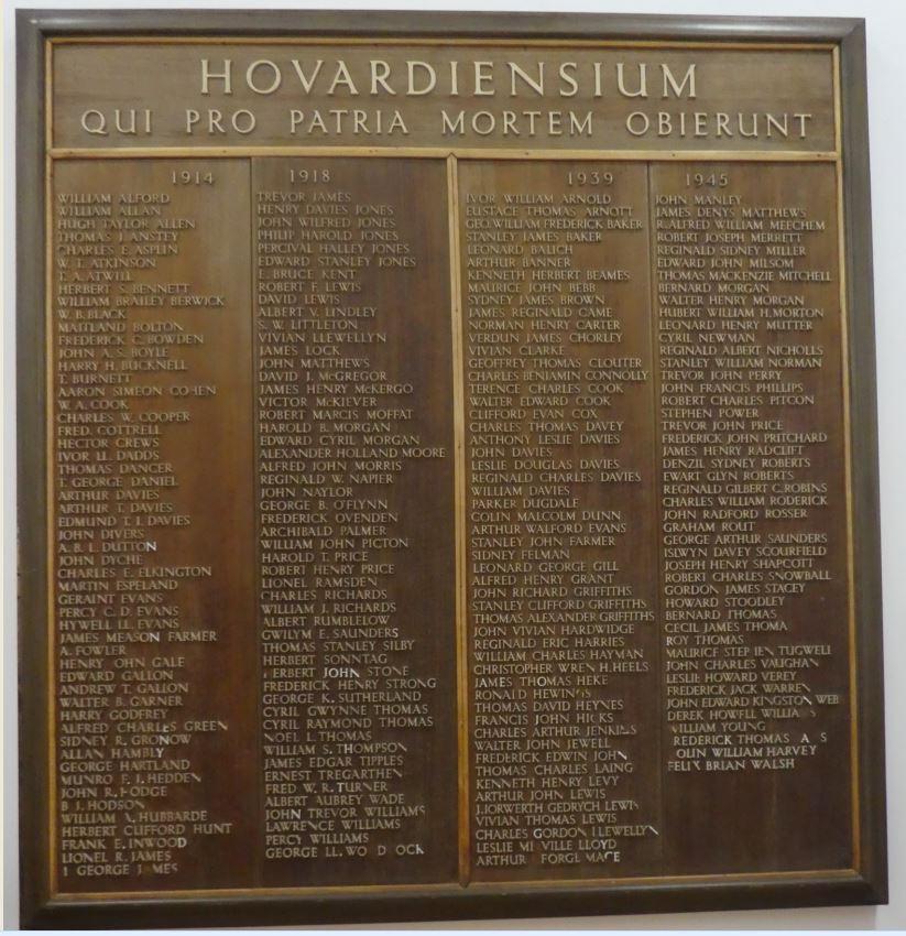 Howardian War Memorial