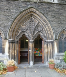 Roath Park Presbyterian Church doors