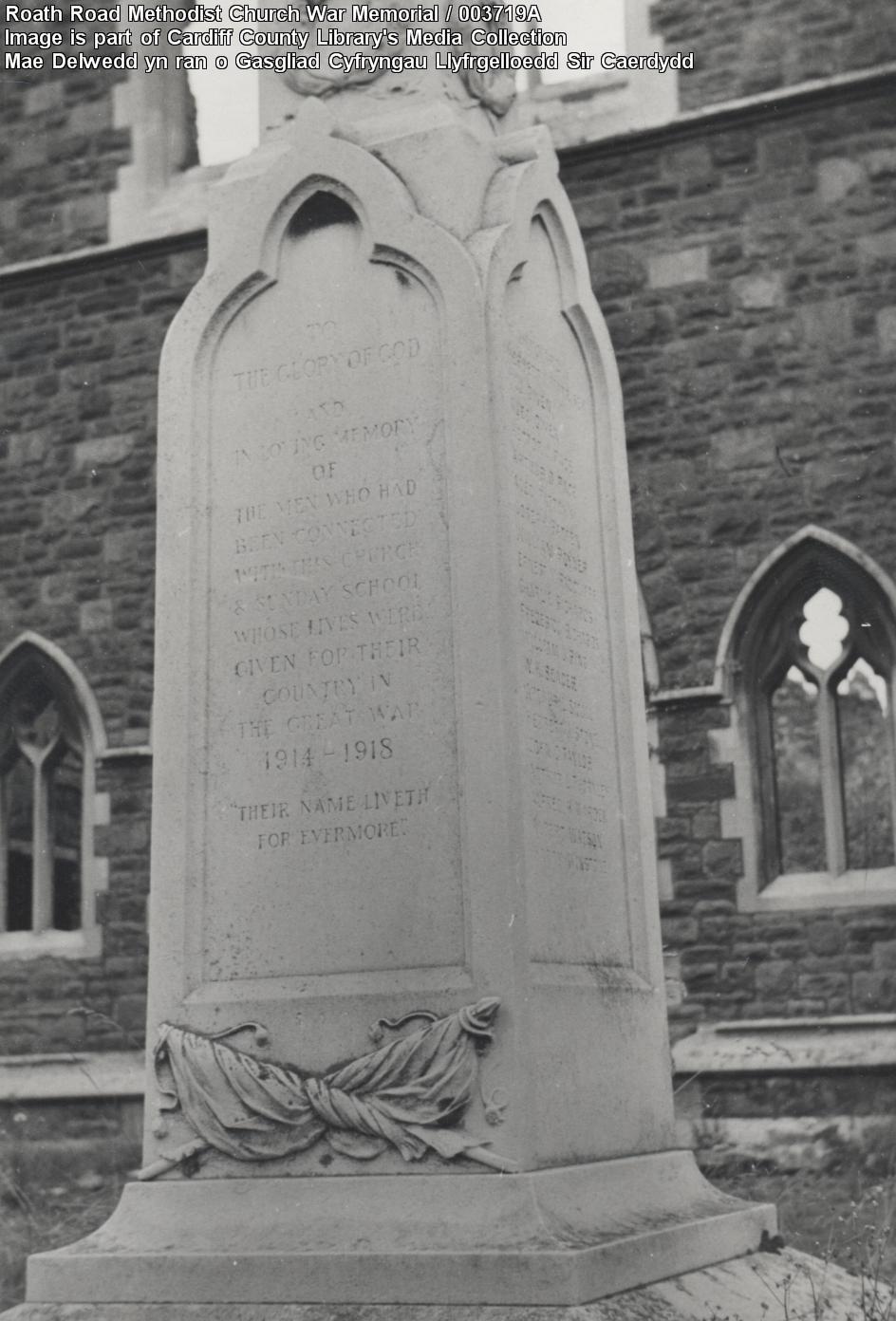 Roath Road Wesleyan War Memorial