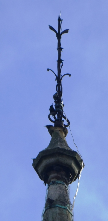 St Andrews URC Church ROath Cardiff top of spire