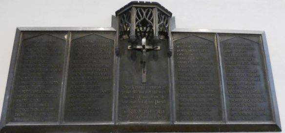 St Edward's Roath WWI memorial