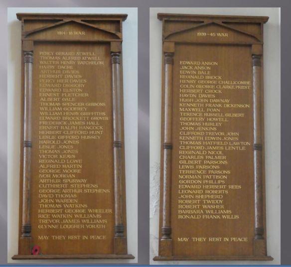 St Martins Albany Road - combined war memorials