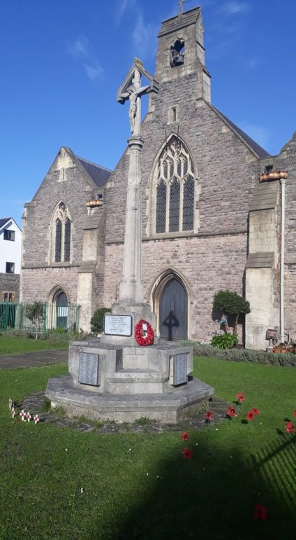 St Saviour war memorial, Splott, Cardiff