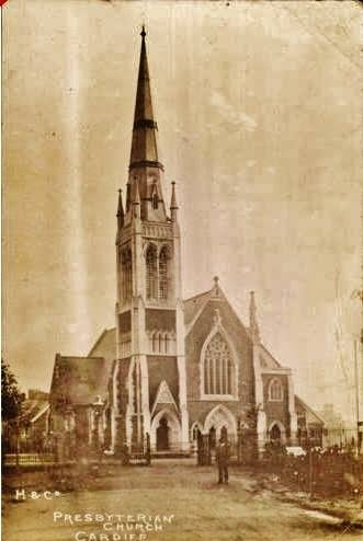 Early view of St Andrews - from within Roath Park - note railings