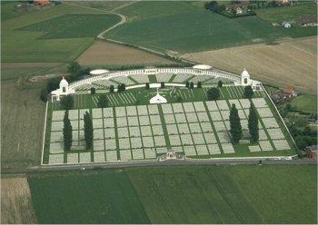 tyne cot memorial aerial view