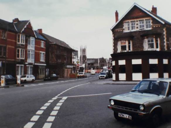 albany road junction with penylan road 1980s