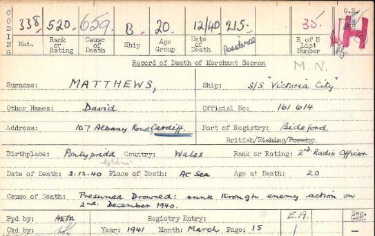 david matthews card