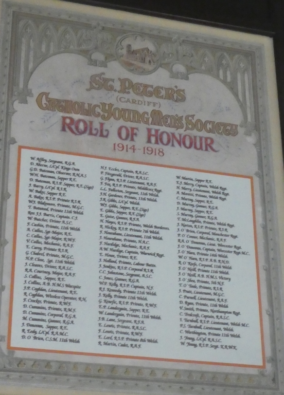 st peters roath cardiff roll of honour