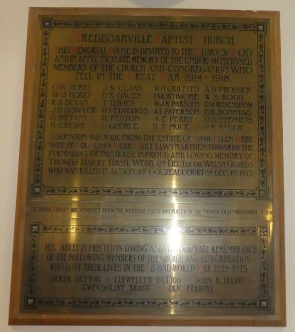 tredegarville baptist church war memorial a
