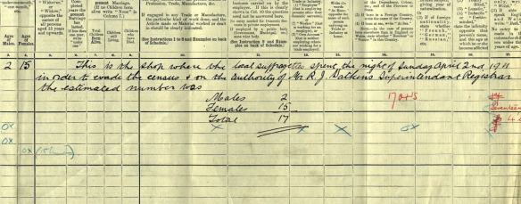 1911 Census for 34 Albany Road