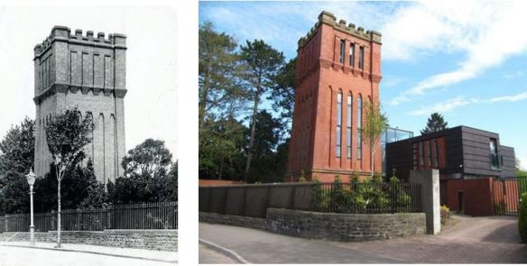 Cyncoed Water Tower Old and New