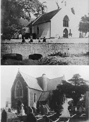 St Margaret's church Roath old and new