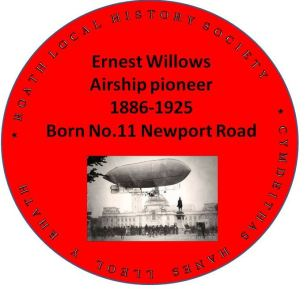 Ernest Willows red plaque