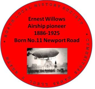 Ernest Willows plaque