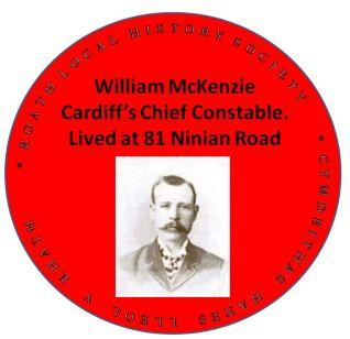 William McKenzie red plaque