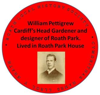 WIlliam Pettigrew plaque Roath Cardiff