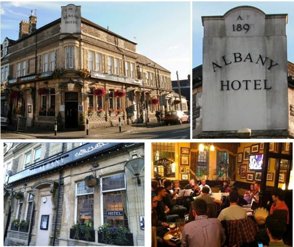 Albany Hotel, Donald Street,, Roath, Cardiff, collage