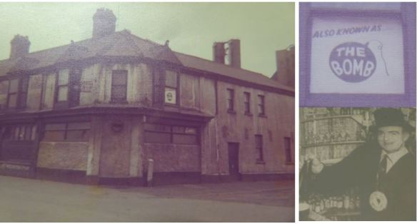 Bomb and Dagger, Splott, Cardiff, collage