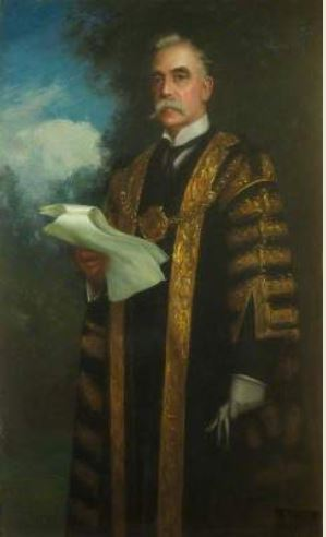 Lord Mayor William Crossman portrait by Parker Hagarty
