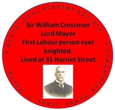 Sir William Crossman red plaque