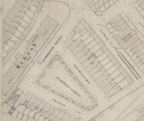 Adamsdown school map1900