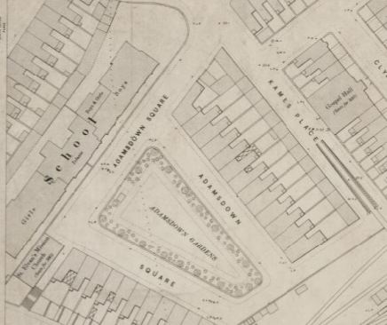 Adamsdown school map1900