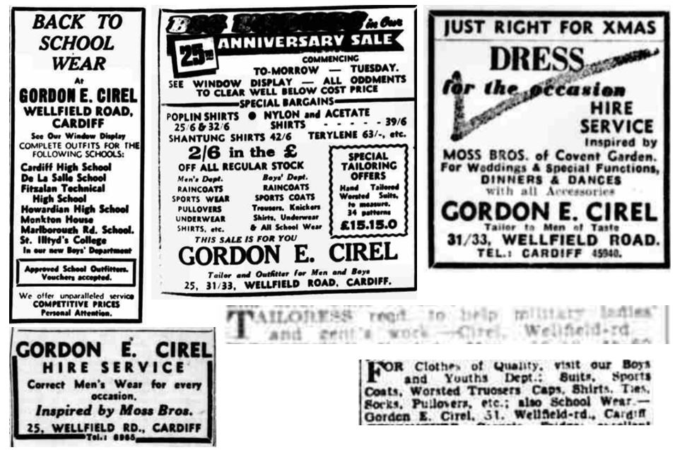 Gordon E Cirel advertising
