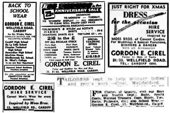 Gordon E Cirel advertising