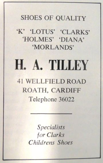 H A Tilley Advertisement small
