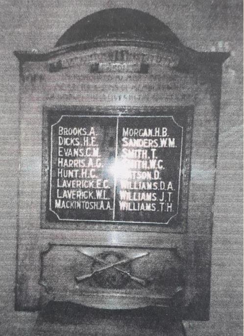Mackintosh Institute War Memorial