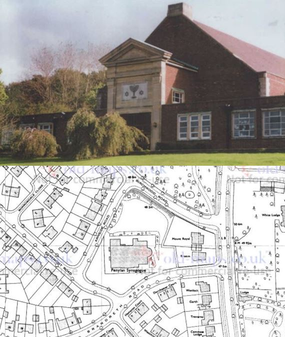 Penylan synagogue and map