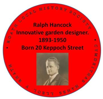 Ralph Hancock red plaque