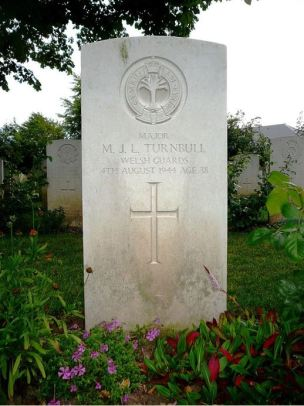 Grave of Major Maurice Turnbull in Bayeux War Cemetery France