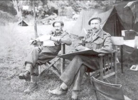 Maurice Trunbull wartime shot - another image with another officer