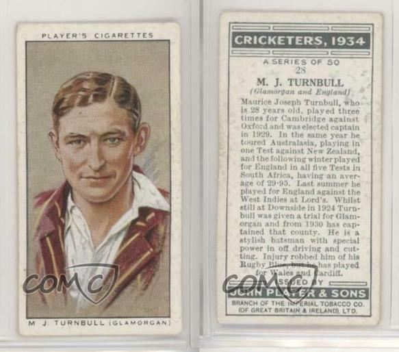 Maurice Turnbull cigarette card