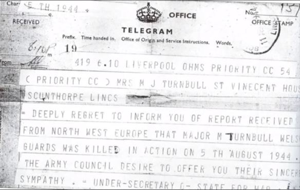 Maurice Turnbull death telegram