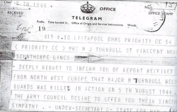 Maurice Turnbull death telegram