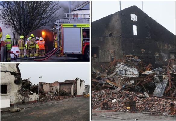 Splott Bingo Hall fire 2015