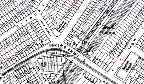 Splott map 1920 showing Splott Picture house