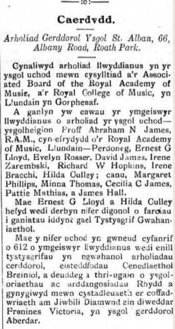 Tarian Y Gweithiwr 5th Sep 1907