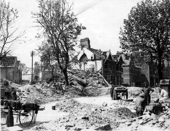 1 Penylan Road bomb damage