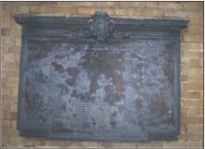 Cardiff High War Memorial plaque