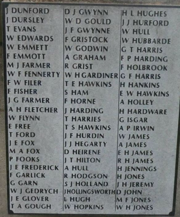 St Saviour's Splott War Memorial Panel b