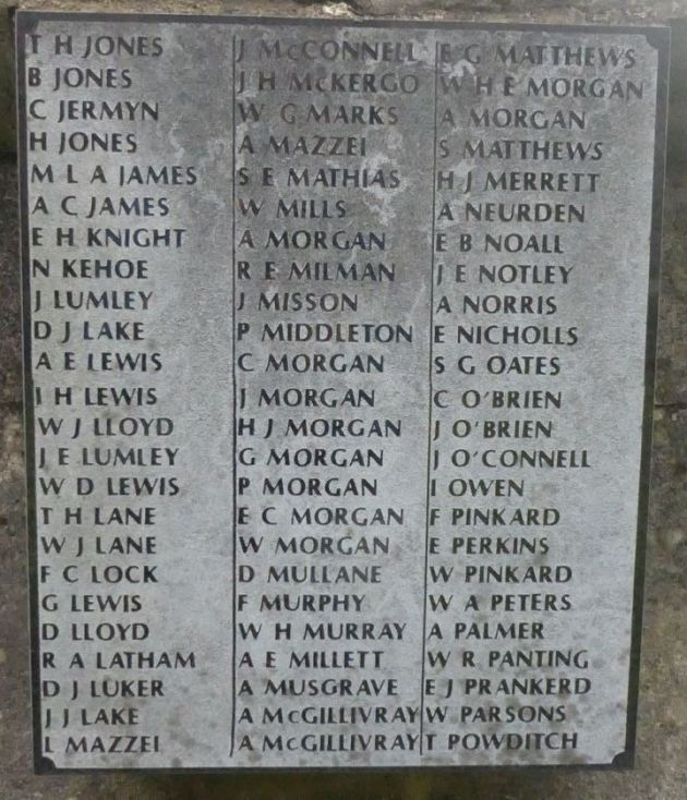 St Saviour's Splott War Memorial Plaque Panel c