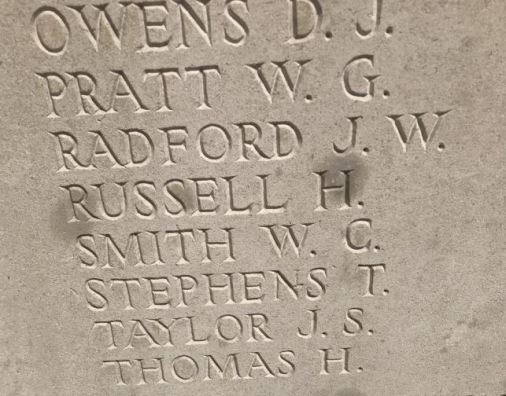 W C Smith remembered on the Tyne Cot Memorial