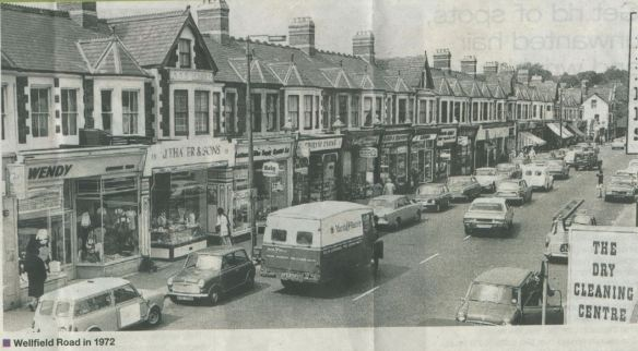 Wellfield Road, Roath, Cardiff  in 1972