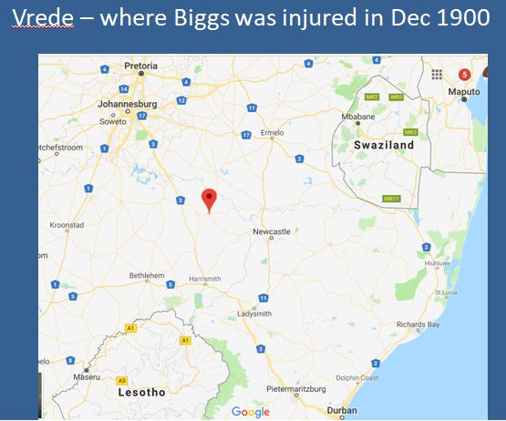 Biggs injured in 1900